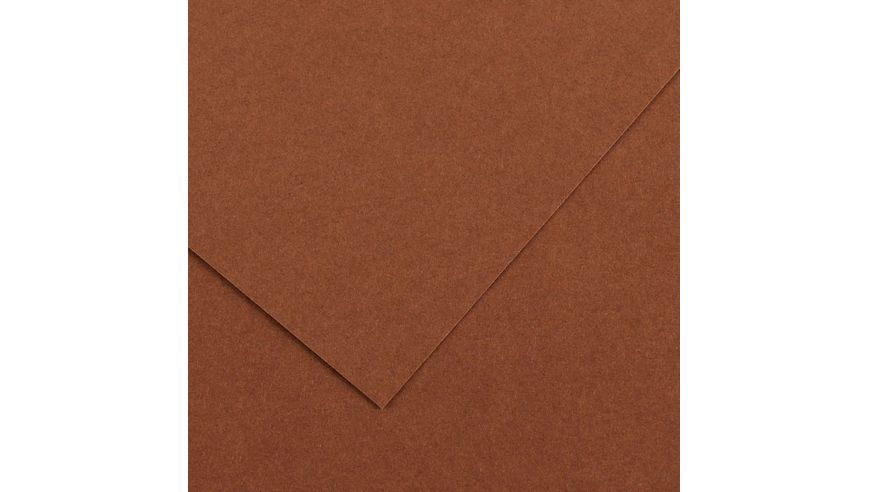 Canson Colorline 150 GSM 50 x 65 cm Pack of 25 Smooth & Light Grain Sheets - Chocolate