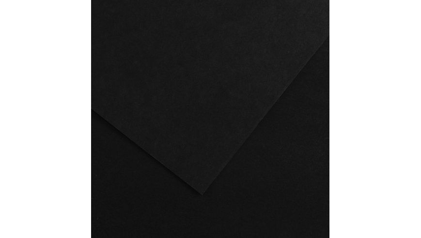 Canson Colorline 150 GSM 50 x 65 cm Pack of 25 Smooth & Light Grain Sheets - Black
