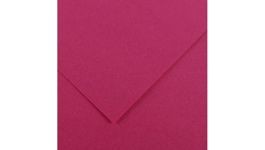 Canson Colorline 300 GSM A4 Pack of 5 Smooth & Light Grain Sheets - Indian Pink