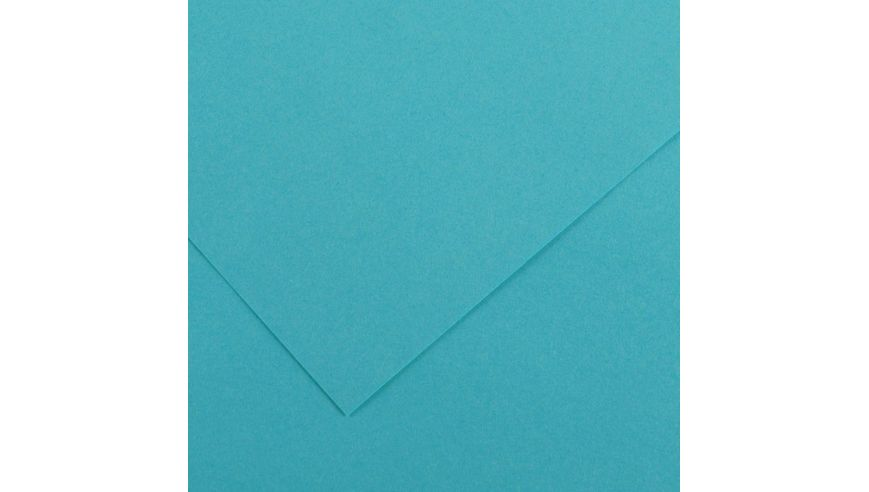Canson Colorline 300 GSM A4 Pack of 5 Smooth & Light Grain Sheets - Turquoise Blue