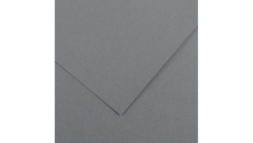 Canson Colorline 300 GSM A4 Pack of 5 Smooth & Light Grain Sheets - Dark Grey