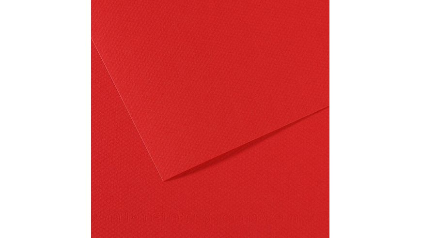 Canson Mi-Teintes 160 GSM 55 x 75 cm Pack of 25 Honeycomb & Fine Grain Sheets - Red
