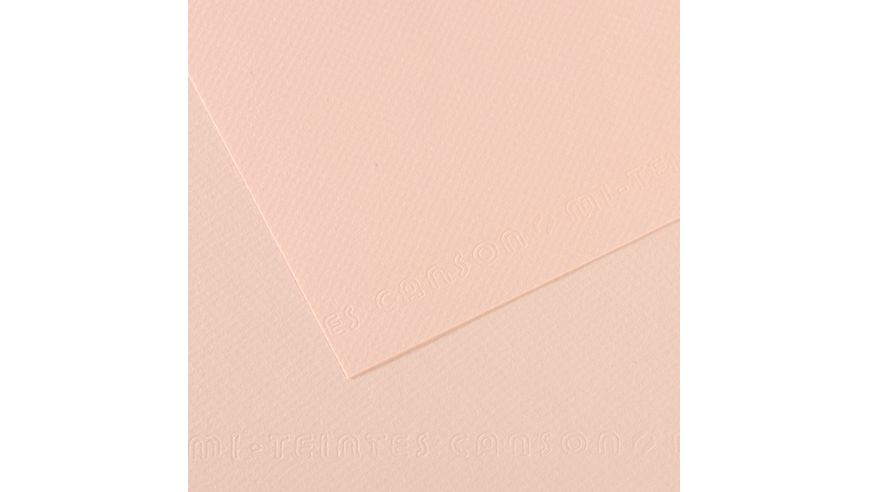 Canson Mi-Teintes 160 GSM 55 x 75 cm Pack of 25 Honeycomb & Fine Grain Sheets - Dawn Pink
