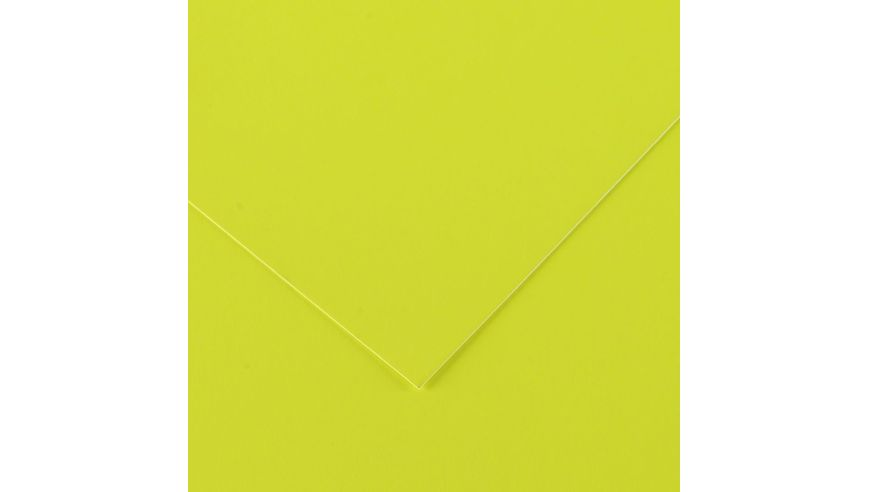 Canson Iris Vivaldi 250 GSM 50 x 65 cm Pack of 25 Smooth Grain Sheets - Fluorescent Yellow