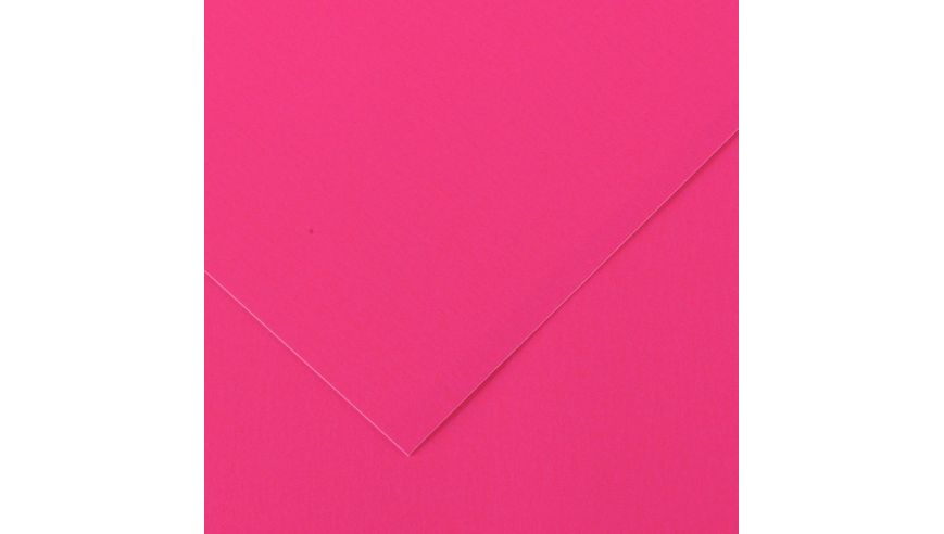 Canson Iris Vivaldi 250 GSM 50 x 65 cm Pack of 25 Smooth Grain Sheets - Fluorescent Pink