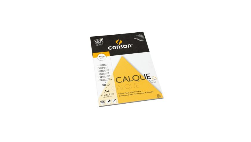 Canson Tracing 70 GSM A4 Pad of 50 Satin Grain Sheets