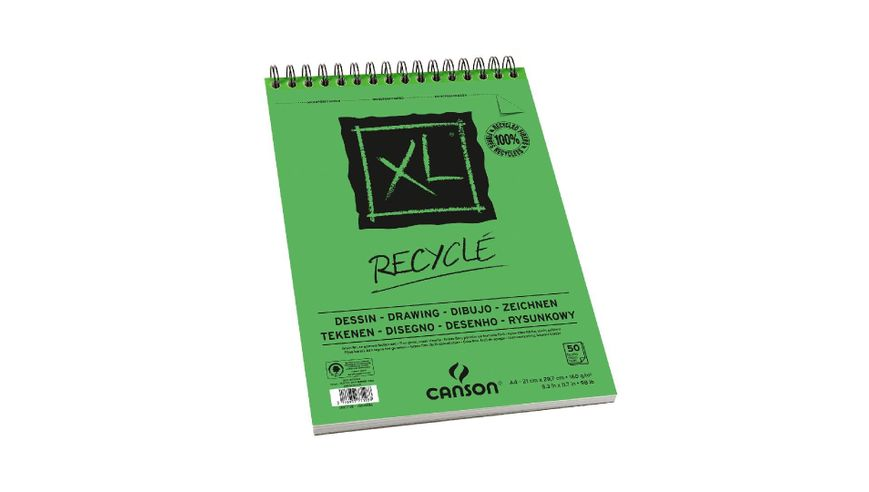 Canson XL Recycled 160 GSM A4 Album of 50 Honeycomb Texture Sheets