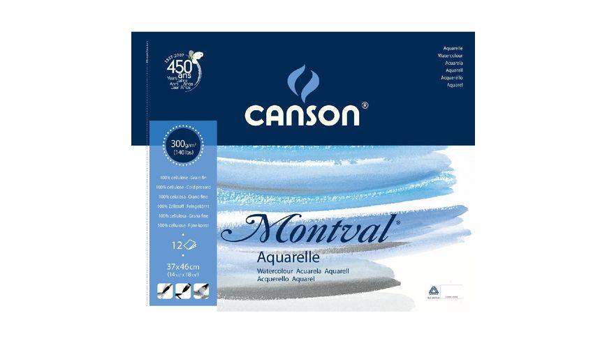 Canson Montval 300 GSM 37 x 46 cm Album of 12 Fine Grain Sheets