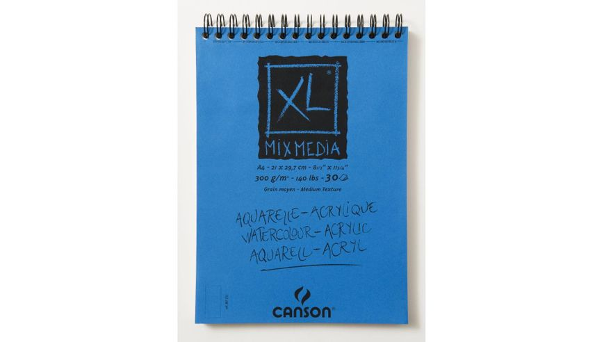 Canson XL Mix Media 300 GSM A4 Album of 30 Medium Grain Sheets