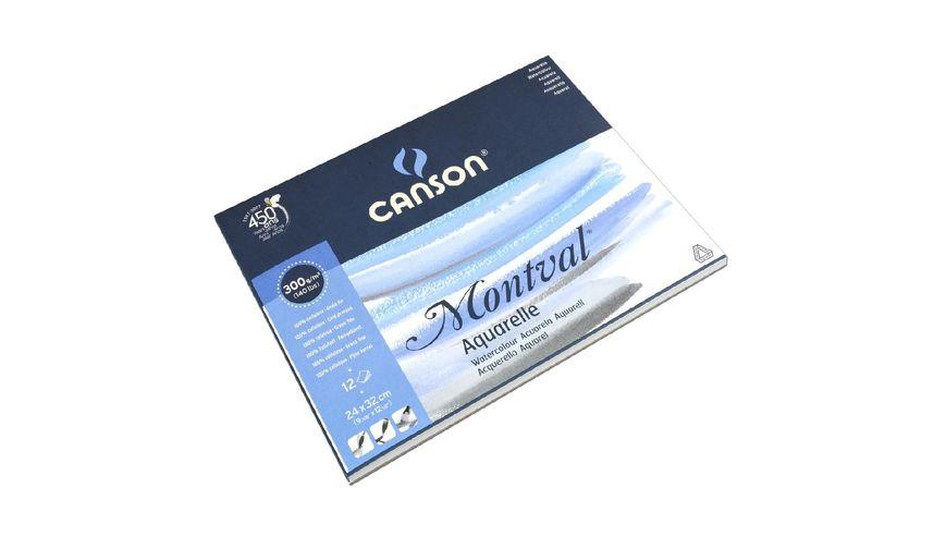 Canson Montval 300 GSM 24 x 32 cm Pad of 12 Fine Grain Sheets