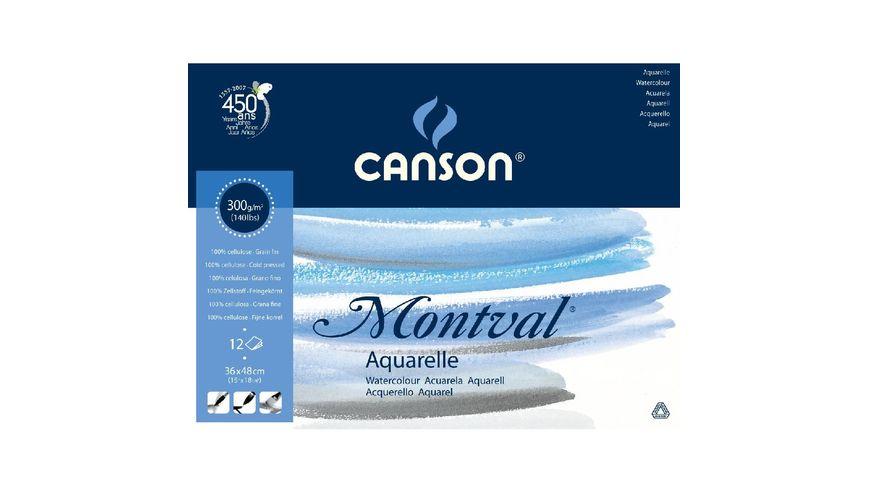 Canson Montval 300 GSM 36 x 48 cm Pad of 12 Fine Grain Sheets