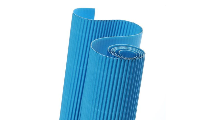 Canson Corrugated Cardboard Paper Roll - 300 GSM, 50 x 70 cm  - Turquoise Blue