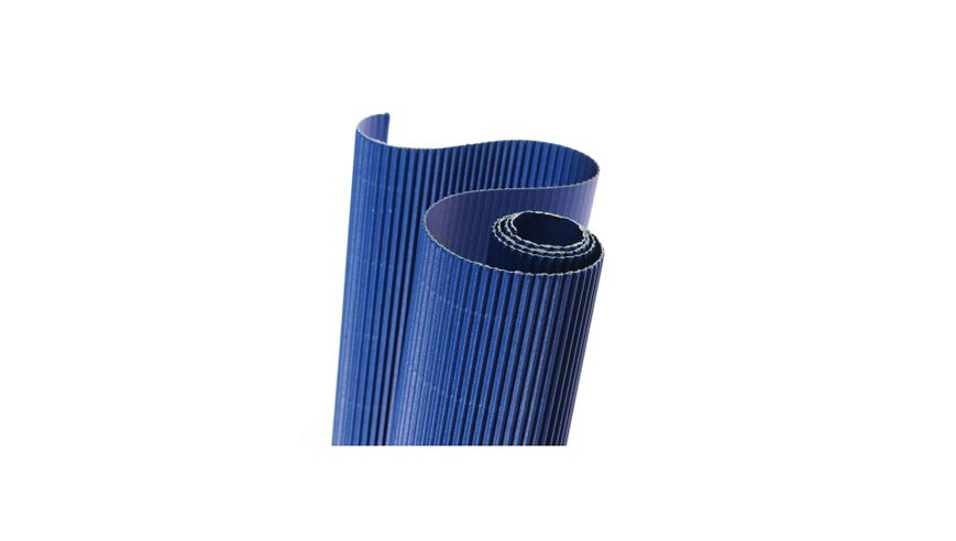 Canson Corrugated Cardboard Paper Roll - 300 GSM, 50 x 70 cm  - Ultramarine