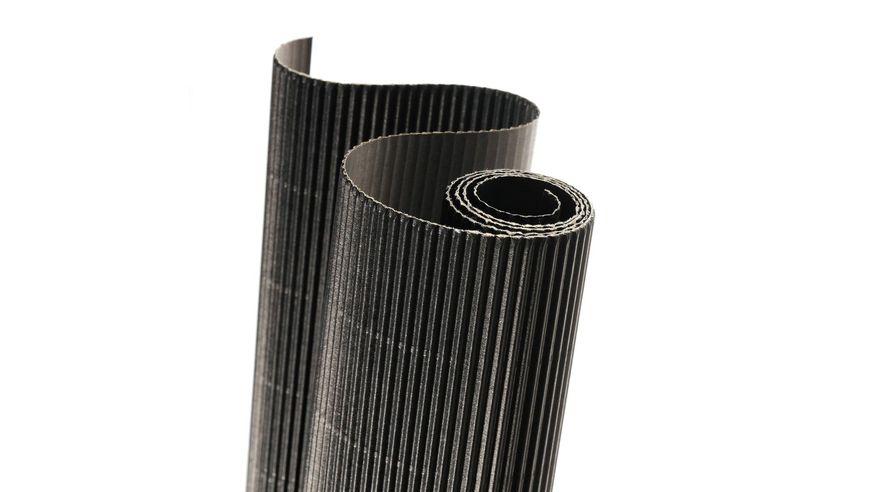 Canson Corrugated Cardboard Paper Roll - 300 GSM, 50 x 70 cm  - Black