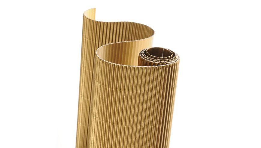 Canson Corrugated Cardboard Paper Roll - 300 GSM, 50 x 70 cm  - Gold