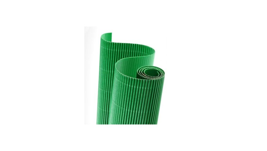 Canson Corrugated Cardboard Paper Roll - 300 GSM, 50 x 70 cm  - Light Green