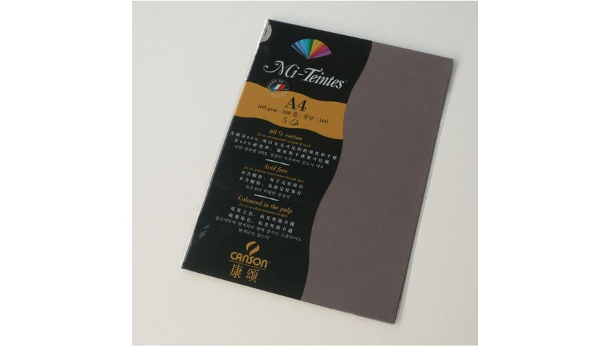 Canson Mi-Teintes 160 GSM A4 Pack of 5 Honeycomb & Fine Grain Sheets - Sepia