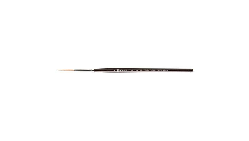 Escoda Prado Tame Synthetic Sable Hair Brush - Rigger - Short Handle - Size: 6
