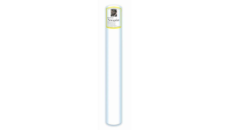 Strathmore 300 Series Newsprint 36''x720'' Off-White Fine Grain 52 GSM Paper Roll