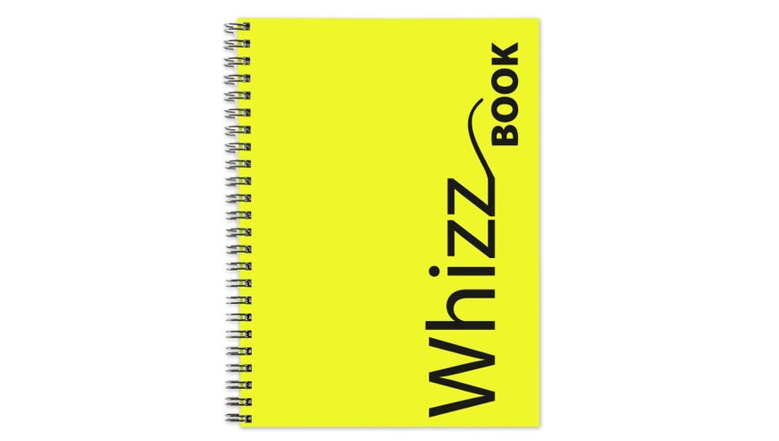 Canson Whizz Book 80 GSM A4 Art Book of 136 Fine Grain Sheets - Yellow Spiral Cover