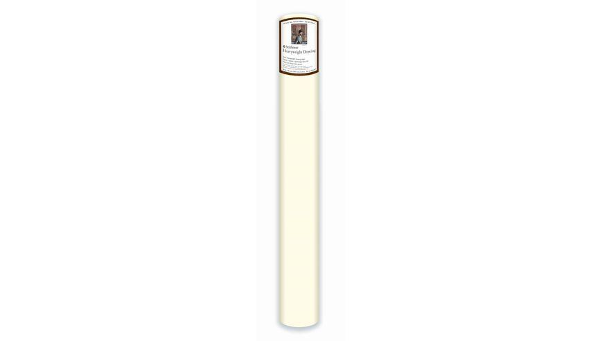 Strathmore 400 Series Heavyweight Drawing 42''x360'' Cream Fine Grain 163 GSM Paper Roll