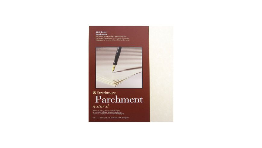 Strathmore 400 Series Natural Parchment 8.5''x11'' Smooth 89 GSM Paper Polypack of 50 Sheets
