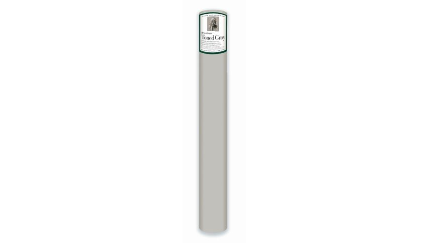 Strathmore 400 Series Toned Gray 42''x360'' Cool Grey Smooth 118 GSM Paper Roll