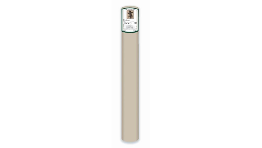 Strathmore 400 Series Toned Tan 42''x360'' Warm Tan Smooth 118 GSM Paper Roll