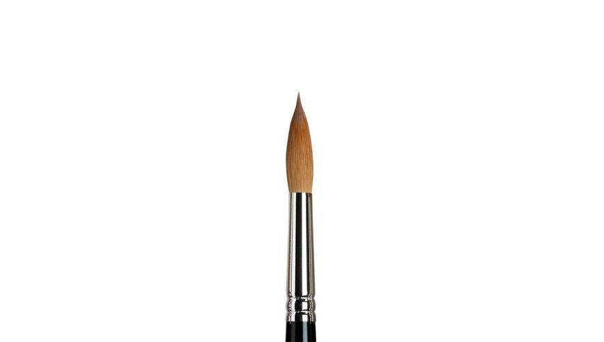 Winsor & Newton Series 7 Kolinsky Sable Hair Brush - Round Pointed - Short Handle - Size: 12