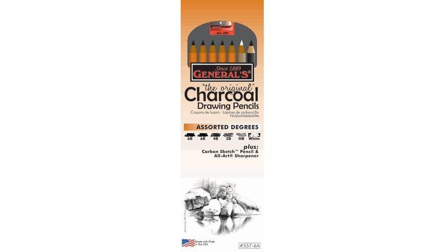 General's The Original Charcoal Drawing Pencils - Art Set of 8 Pieces