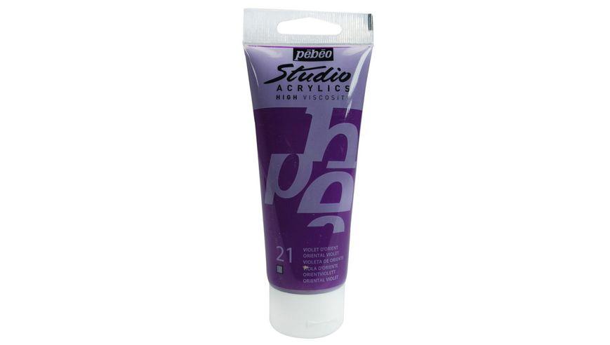 Pebeo Studio Acrylic High Viscosity 100 ml Oriental Violet 21