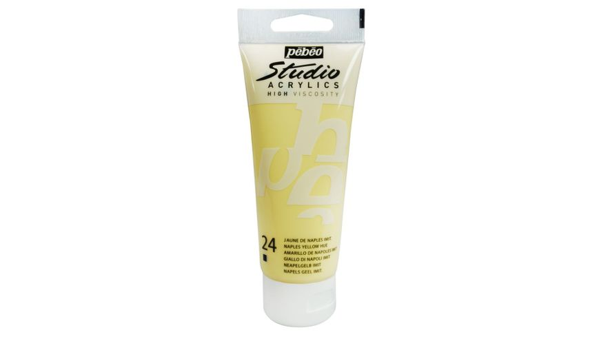 Pebeo Studio Acrylic High Viscosity 100 ml Naples Yellow Hue 24