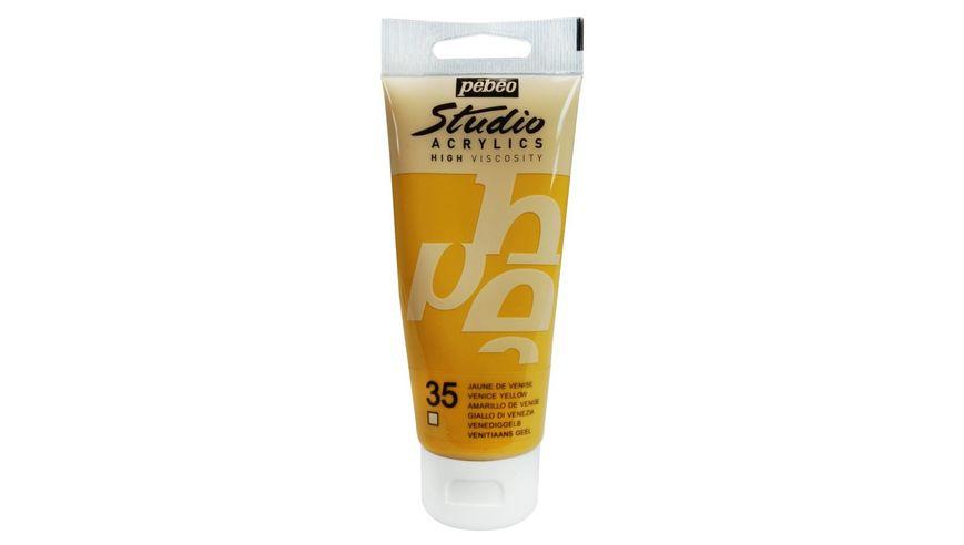 Pebeo Studio Acrylic High Viscosity 100 ml Venice Yellow 35