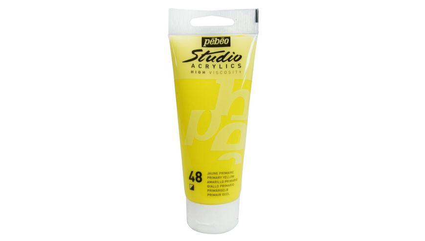 Pebeo Studio Acrylic High Viscosity 100 ml Primary Yellow 48