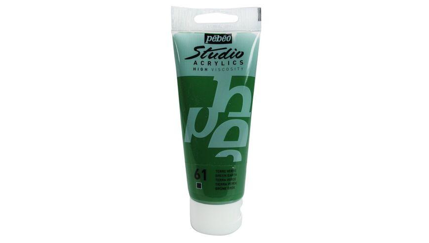 Pebeo Studio Acrylic High Viscosity 100 ml Green Earth 61