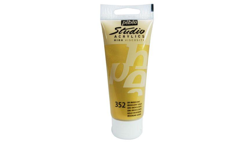 Pebeo Studio Acrylic High Viscosity 100 ml Iridescent Gold 352