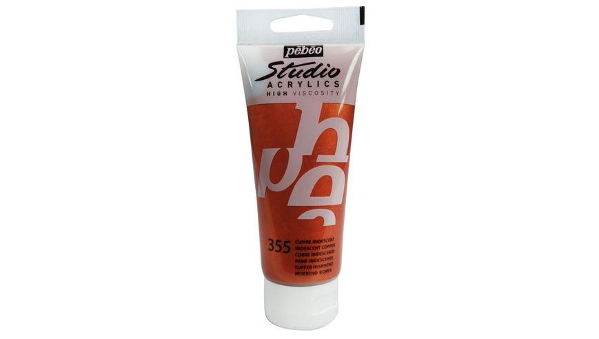 Pebeo Studio Acrylic High Viscosity 100 ml Iridescent Copper 355
