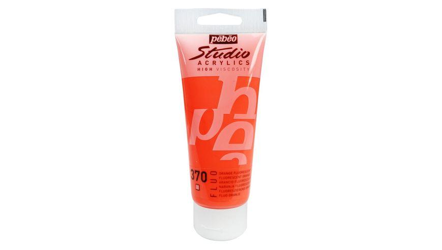 Pebeo Studio Acrylic High Viscosity 100 ml Fluorescent Orange 370