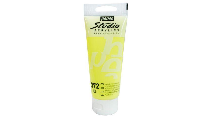Pebeo Studio Acrylic High Viscosity 100 ml Fluorescent Yellow 372