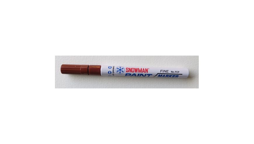 Snowman Oil Based Paint Marker - Brown - Fine Tip