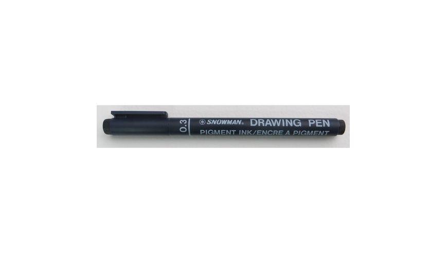 Snowman Drawing, Zentangle & Manga Pens - Black - 03