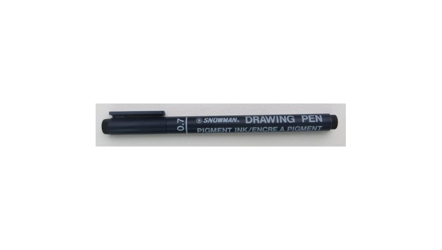 Snowman Drawing, Zentangle & Manga Pens - Black - 07