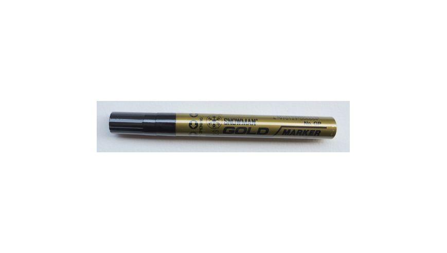 Snowman Oil Based Paint Marker - Gold - Medium Tip