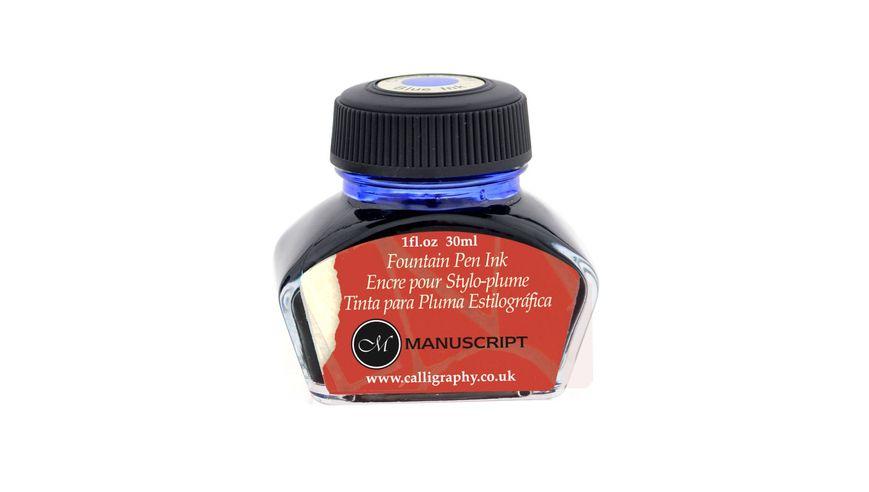 Manuscript Calligraphy Blue Fountain Pen Ink - 30 ML Bottle