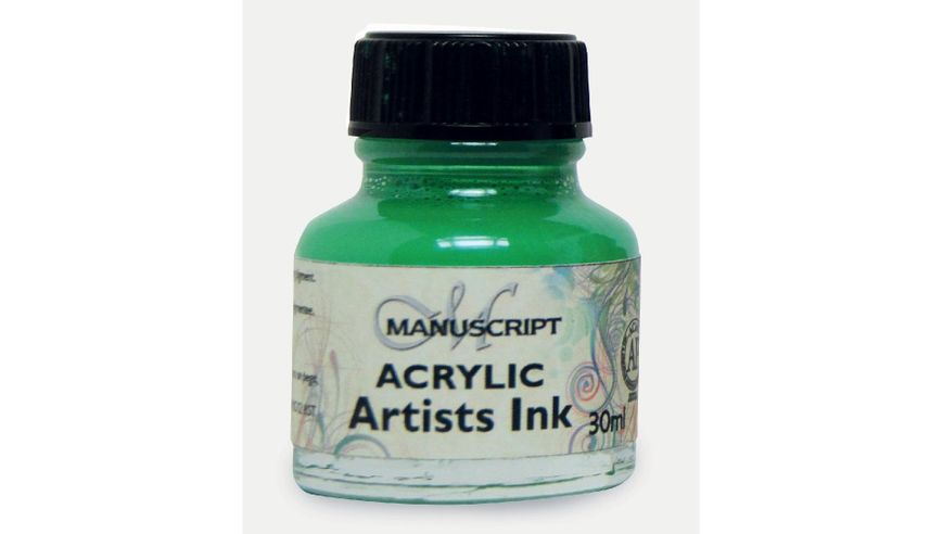 Manuscript Artists Acrylic Dip Pen Ink 30ML - Emerald Green