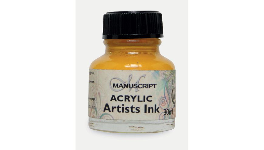 Manuscript Artists Acrylic Dip Pen Ink 30ML - Brilliant Yellow