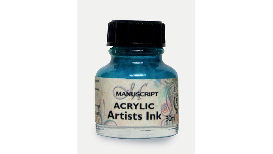 Manuscript Artists Acrylic Dip Pen Ink 30ML - Turquoise