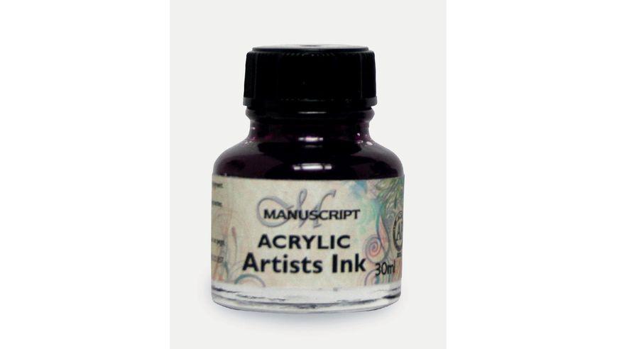 Manuscript Artists Acrylic Dip Pen Ink 30ML - Purple Lake