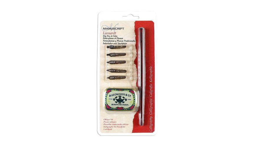 Manuscript Leonardt Oblique Dip Pen & Nib Set
