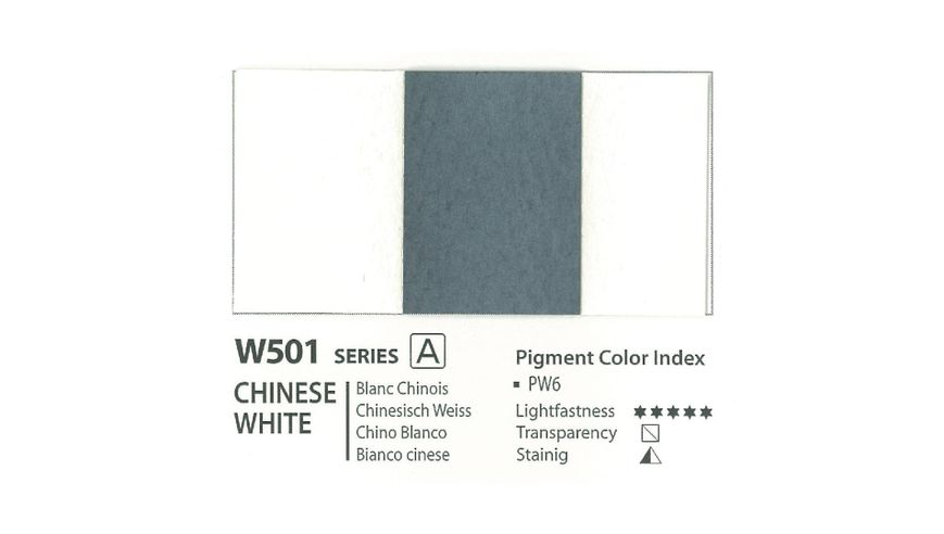 Mission Gold Professional Grade Extra-Fine Watercolour  - 15 ML - Chinese White (Transparent)